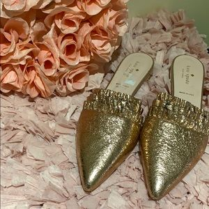 Kate Spade ♠️ rose gold leather sandals size 9.5